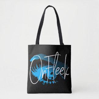 Bolsa Tote No olho bonito de Fleek e na sobrancelha - azul