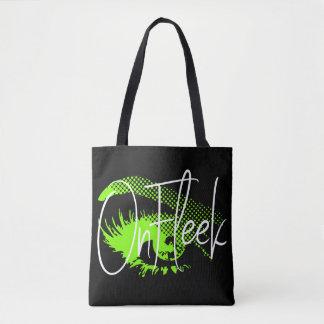 Bolsa Tote No olho bonito de Fleek e na sobrancelha - verde