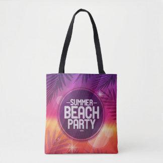 Bolsa Tote Noite do partido da praia do verão