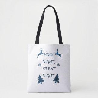 Bolsa Tote Noite santamente, noite silenciosa