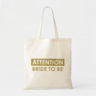 Bolsa Tote Noiva da ATENÇÃO a ser - customizável