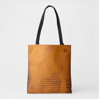 "Bolsa Tote ""Nomeie"" toda sobre - imprima a sacola"