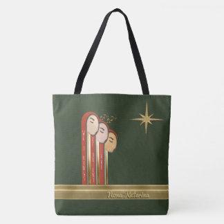 Bolsa Tote Nós 3 reis - Natal do art deco personalizado