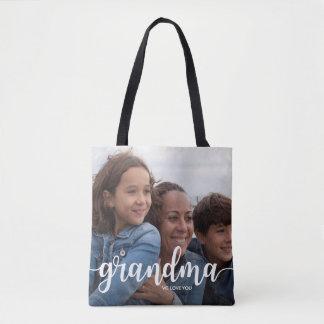 Bolsa Tote Nós amamo-lo avó | duas fotos sangradas cheio