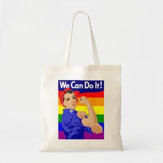 Bolsa Tote NÓS PODEMOS FAZÊ-LO (do GAY) sacola do orçamento