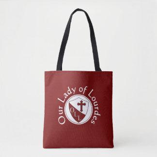 Bolsa Tote Nossa senhora da sacola da escola de Lourdes