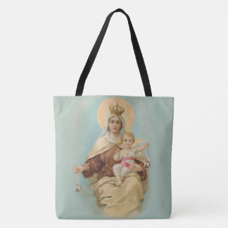 Bolsa Tote Nossa senhora de Monte Carmelo com o bebê Jesus