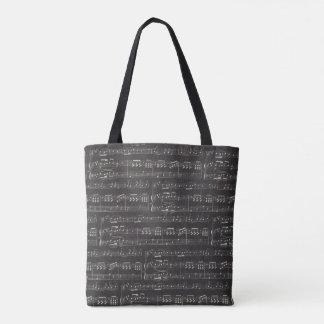 Bolsa Tote nota da música da sacola do tema da música