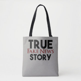 Bolsa Tote Notícia verdadeira da falsificação da história