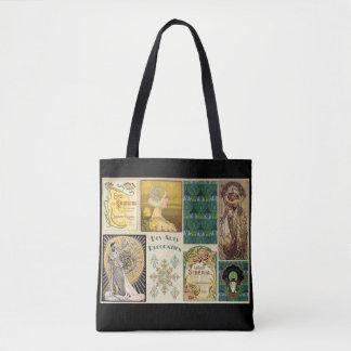 Bolsa Tote Nouveau da arte/bolsa das propagandas mulheres do