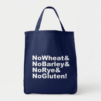 Bolsa Tote NoWheat&NoBarley&NoRye&NoGluten! (branco)