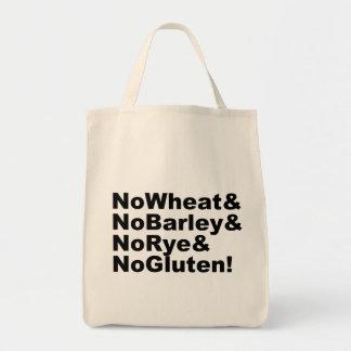 Bolsa Tote NoWheat&NoBarley&NoRye&NoGluten! (preto)