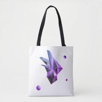 Bolsa Tote (Núcleo Miami) sacola de cristal abstrata