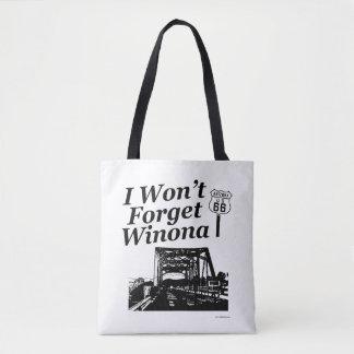 Bolsa Tote Nunca esqueça a rota 66 de Winona