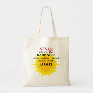 Bolsa Tote Nunca negue na escuridão