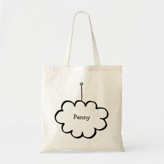 Bolsa Tote Nuvem personalizada em uma corda