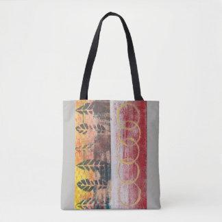 Bolsa Tote O abstrato sae vermelho & amarela o saco 170256