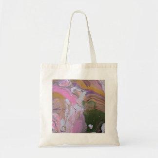 Bolsa Tote O acrílico original da arte abstracta derrama o