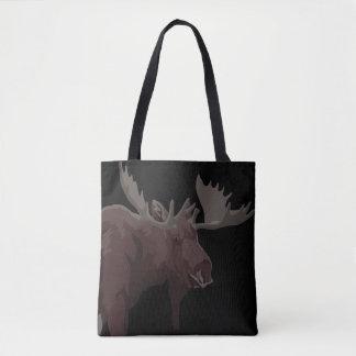 Bolsa Tote O alce de Canadá ensaca sacolas retros da arte dos