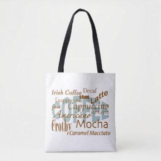 Bolsa Tote O Amante-Café do café exprime o design de texto