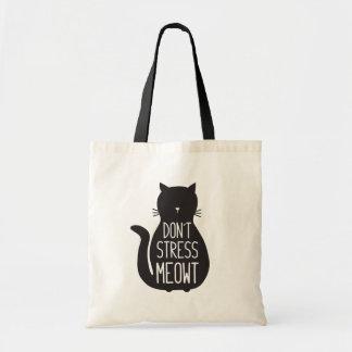 Bolsa Tote O amante engraçado do gato não força Meowt