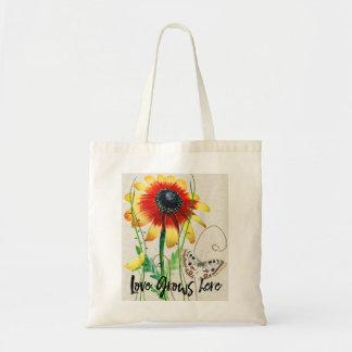 Bolsa Tote O amor cresce aqui o design