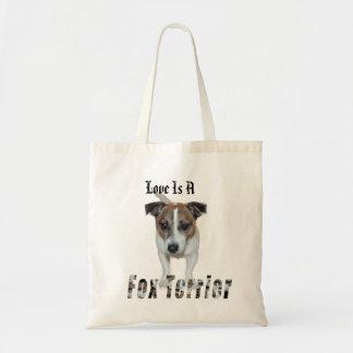 Bolsa Tote O amor do Fox Terrier é,