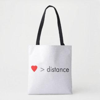 """Bolsa Tote o """"amor é maior do que citações minimalistas da"""