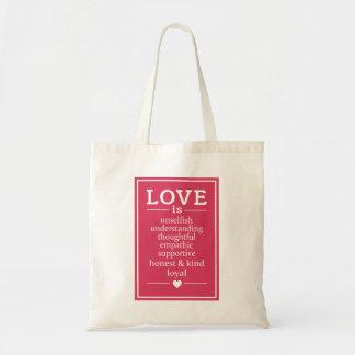 Bolsa Tote O amor é… sacolas