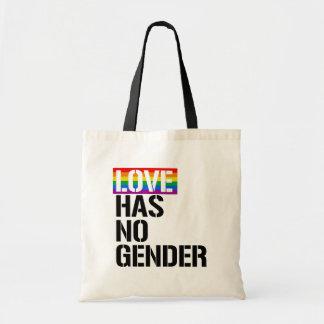 Bolsa Tote O amor não tem nenhum género - - os direitos de