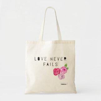 Bolsa Tote O amor nunca falha, rosas