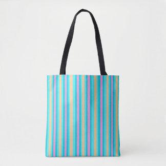 Bolsa Tote O Aqua Pinstriped/rosa/Gold> modelaram sacolas