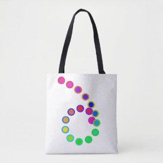 Bolsa Tote O arco-íris artística colore a diversidade do