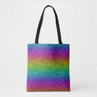 Bolsa Tote O arco-íris brilhante Sparkles sacola