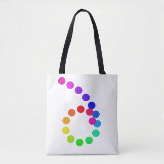 Bolsa Tote O arco-íris colore a diversidade do ORGULHO da