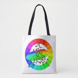 Bolsa Tote O arco-íris colore sacolas artísticas do