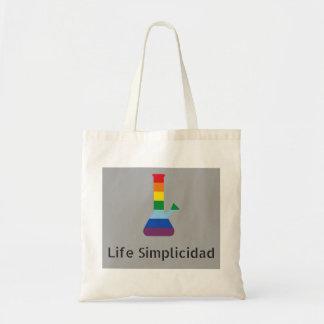 Bolsa Tote O arco-íris de Simplicidad da vida Bong o texto