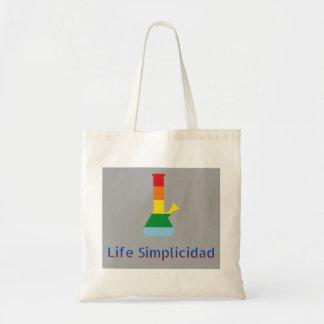 Bolsa Tote O arco-íris de Simplicidad da vida Bong & texto