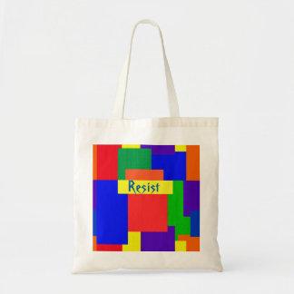 Bolsa Tote O arco-íris resiste a sacola do design da edredão