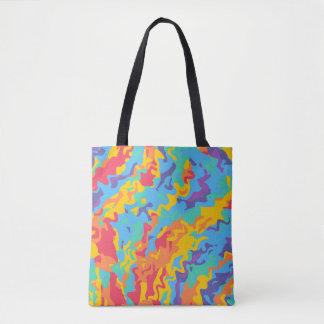 Bolsa Tote O arco-íris vai louco por todo o lado na sacola do
