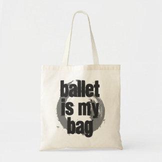 Bolsa Tote O balé é minha sacola branca & cinzenta do saco