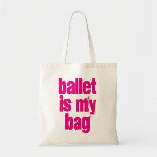 Bolsa Tote O balé é minha sacola branca & cor-de-rosa do saco