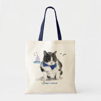 Bolsa Tote o bolsa:  caracterizando Felix, o gatinho, no mês