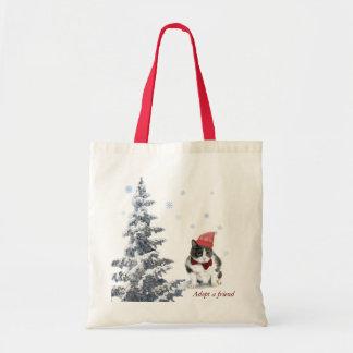 Bolsa Tote o bolsa;  Felix, o gato, em janeiro
