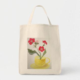 Bolsa Tote O bolsa, teacup, flor