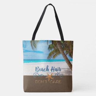 Bolsa Tote O cabelo da praia não se importa