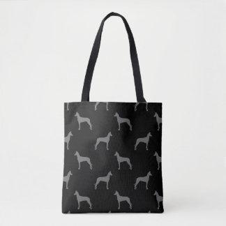 Bolsa Tote O cão do faraó mostra em silhueta o preto e o