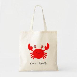 Bolsa Tote O caranguejo bonito do mar caçoa a sacola