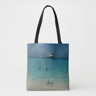 """Bolsa Tote """"O caribe claro do dia bonito"""" molha a praia"""