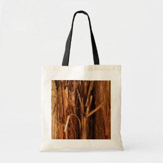 Bolsa Tote O cedro Textured o olhar de madeira do latido